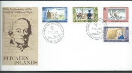 Pitcairn Islands 1992 William Bligh Anniversary Set Of 4 On FDC Official Unaddressed - Stamps