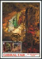 GIBRALTAR (2017). Carte Maximum Card - St Michael's Cave, Cueva, Höhle, Grotte - Upper Rock Nature Reserve - Gibilterra