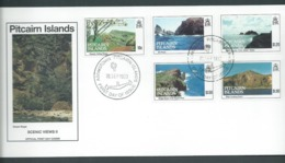 Pitcairn Islands 1993 Scenic Views Series II Set Of 5 On FDC Official Unaddressed - Stamps