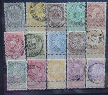 BELGIE  1893    Nr. 53 - 67  (2)    Gestempeld    CW  140,00 - 1893-1900 Fine Barbe