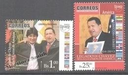 Bolivia - Bolivie 2014 Yvert 1548-49, America UPAEP, Chavez - MNH - Bolivia