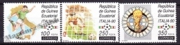 Equatorial Guinea -  Guinea Ecuatorial - Guinée Équatoriale 1990 Edifil 123- 125, FIFA World Cup Italy 90 - MNH - Guinea Ecuatorial
