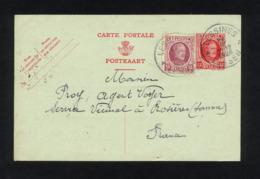 """""""ENTIER CARTE POSTALE COMMERCIALE POUR EXPEDITION DE LESSINES(BELGIQUE) VERS ROSIERES (FRANCE)""""CACHET DU 24/04/1926 - Other"""