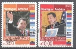 Nicaragua 2014 Yvert 2712-13, America UPAEP - Famous People, Chavez - MNH - Nicaragua