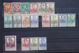 BELGIE  1912     Nr. 108 - 125       Gestempeld    CW  94,00 - 1912 Pellens