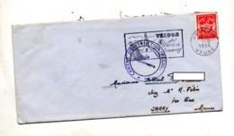 Lettre Flamme Verdun Glorieux Souvenirs Sur Franchise Militaire + Centre Instruction - Marcophilie (Lettres)