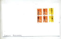 Grand Fragment De Lettre Cachet Annulation Chalons Sur Luquet Carré - Postmark Collection (Covers)