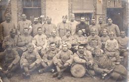 CARTE PHOTO - GUERRE 14/18 - Poilus Du 53è R.I. (PERPIGNAN) - Clairon Et Tambour - Oorlog 1914-18