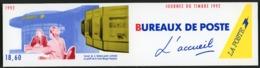 """BC 2744 A NEUF TB / 1992 Journée Du Timbre """"Bureaux De Poste, L'acceuil"""" / Valeur Timbres : 15F Soit 2.29€ - Booklets"""