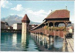 Kapellbrücke -  Bridge.  Luzern Switzerland.  B-3695 - Bridges