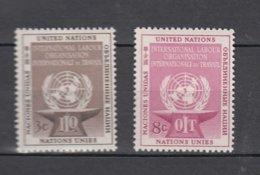 NATIONS  UNIES  NEW-YORK  1954   N° 27 - 28    NEUFS**   CATALOGUE YVERT&TELLIER - New York - Sede De La Organización De Las NU