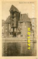 GDANSK (Danzig) Polen - Molen/moulin - De Stadspoort Met Havenkraan (tredmolen) Voor De Vernieling In 1945 - Pologne