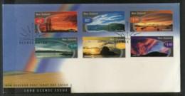New Zealand 1998 Scenic Skies Lake Mountain Tourism Sc 1526-31 FDC # 16579 - Holidays & Tourism