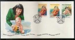 New Zealand 1998 Children's Water Safety Sport Health Sc B159-61 FDC # 16578 - Health