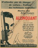 Ancienne Publicité (1954) : ALLINQUANT, Montez Des Amortisseurs à Double Effet - Publicités