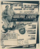 Ancienne Publicité (1954) : ADOLPHE LAFONT, Combinaison Pour Scooter, Lyon - Publicités