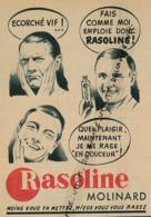 Ancienne Publicité (1954) : RASOLINE MOLINARD, Moins Vous En Mettez, Mieux Vous Vous Rasez - Publicités