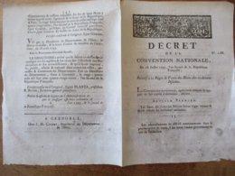 DECRET DE LA CONVENTION NATIONALE DU 18 JUILLET 1793 RELATIF A LA REGIE & VENTE DES BIENS DES CI-DEVANT JESUITES - Décrets & Lois