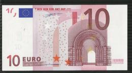 10 EURO FRANCE L010 AUNC DUISENBERG BANDE HOLOGRAPHIQUE MANQUANTE - 10 Euro