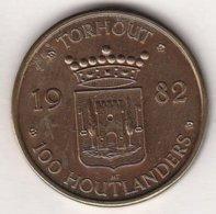 100 HOUTLANDERS 1982 TORHOUT H.R.G. PEERDENFEESTEN - Tokens Of Communes
