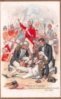 BATTLE OF TRAFALGAR - NELSON RECEIVES HIS DEATH WOUND, OCT 1805 ~ OLD POSTCARD  #93304 - Militaria