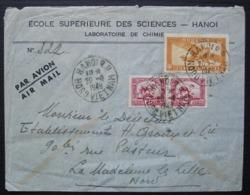 Indochine 1949 Hanoi Nord Vietnam Ecole Supérieure Des Sciences Laboratoire De Chimie, Pour La Madeleine (Nord) - Indocina (1889-1945)