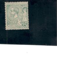 MONACO1881-4:Yvrt.16mh* Cat.Value$330 - Monaco