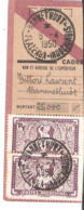 2 Timbres Sur Reçu De Mandat De Versement Oblitéré BANNETHUOT PLATEAUX INDOCHINOIS - Indochine (1889-1945)