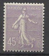 France N°  197    Semeuse Lignée 45c  Lilas     Neuf * * TB  = MNH  VF   Soldé  à  Moins De 15 % ! ! ! - Francia