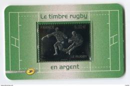 RC 13781 FRANCE N° 197 RUGBY 5€ ARGENT AUTOADHÉSIF NEUF ** - Rugby