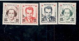 MONACO1949:Yvert.PA15-18 379A-82A Mnh** Cat.Value$80($88+) - Poste Aérienne