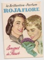 PUB SUR PAPIER CARTONNE / BRILLANTINE ROJA  FLORE / BOUQUET DE FLEUR / ILLUSTRATION KELLER B811 - Publicités