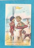 Illustrateur : Germaine Bouret. - Monsieur Le Maître Nageur, Est-ce Qu'elle Est Très Salée Aujourd'hui ?... - Bouret, Germaine