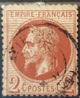 FRANCE 1862 - Canceled - YT 26A - 2c - 1863-1870 Napoléon III. Laure