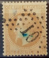 FRANCE 1867 - Canceled - YT 28A - 10c - 1863-1870 Napoléon III. Laure