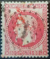 FRANCE 1867 - Canceled - YT 32 - 80c - 1863-1870 Napoléon III. Laure