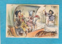 Illustrateur : Germaine Bouret. - Hep ! Vous Oubliez La Bouteille De Derrière Les Fagots !... - Bouret, Germaine