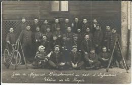 """TARN : Mazamet, La Grève, """"Détachement Du 143ème D'infanterie, Usine De La Roque"""", TOP Carte-Photo, RARE... - Mazamet"""