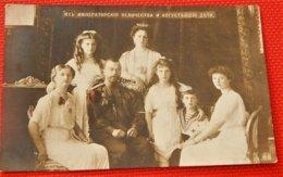 RUSSIA - RUSSIE -  Famille Impériale De Russie - Tsar Nicolas II, Alexandra Féodorovna, Enfants Impériaux - Familles Royales