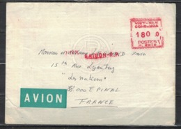 VIETNAM   SUD               N°     YVERT    Lettre SAIGON -EPINAL    OBLITERE              ( Ob  4/ K  ) - Viêt-Nam