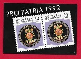 LIBRETTO SVIZZERA MNH - PRO PATRIA 1992 - 10 X 50 + 20 Cent. - Nuovi