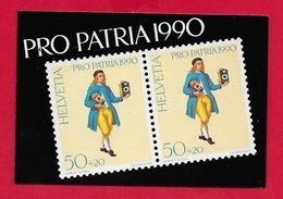 LIBRETTO SVIZZERA MNH - PRO PATRIA 1990 - 10 X 50 + 20 Cent. - Nuovi