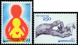 COREE DU SUD Protection Des Enfants 07 2v Neuf ** MNH - Corée Du Sud