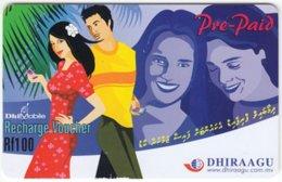 MALDIVES A-145 Prepaid Dhiraagu - Used - Maldiven