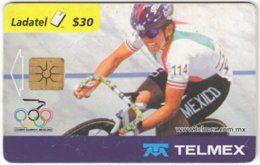 MEXICO B-067 Chip Telmex - Event, Sport, Olympic Games, Cycling - Used - Mexico