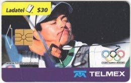 MEXICO B-076 Chip Telmex - Event, Sport, Olympic Games, Archery - Used - Mexico