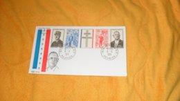ENVELOPPE FDC DE 1971. / HOMMAGE AU GENERAL DE GAULLE...CACHETS ST LOUIS REUNION...+ TIMBRE BANDE.. - Storia Postale