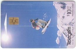 NEW ZEALAND A-714 Chip Telecom - Leisure, Snowboarding - Used - Neuseeland