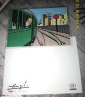 TRV-BL12 - Tintin J'aime Le Train - Kuifje - Hergé (Getand En Ongenummerd) - Chemins De Fer