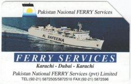 PAKISTAN A-153 Magnetic Telips - Traffic, Ferry - Used - Pakistan